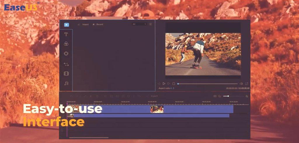 EaseUS Video Editor interface