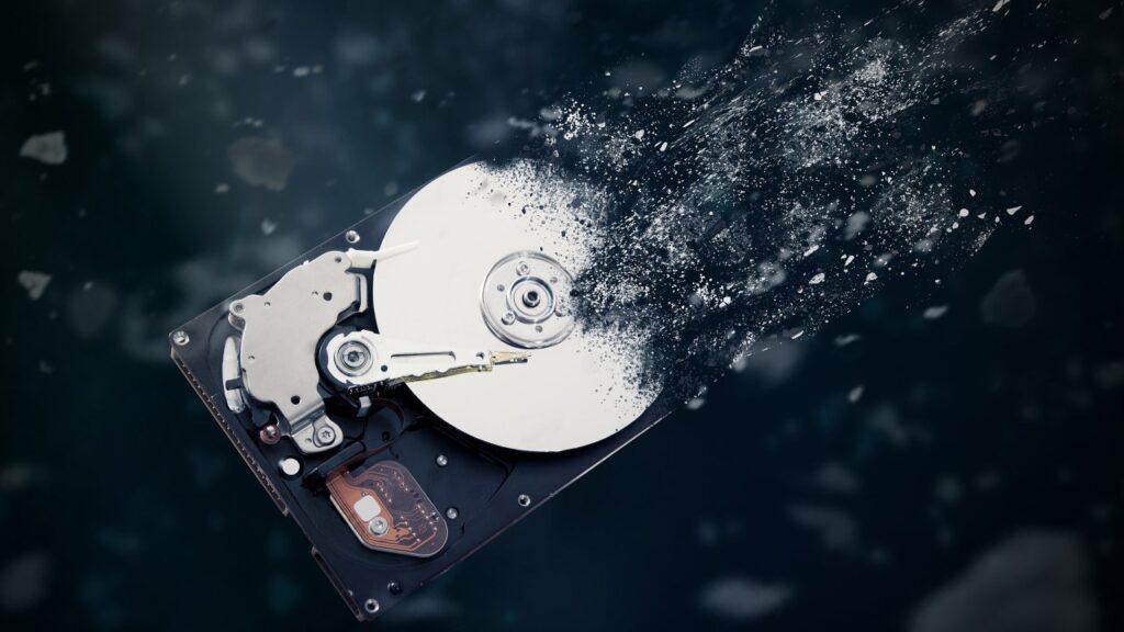 perte de données sur un disque dur