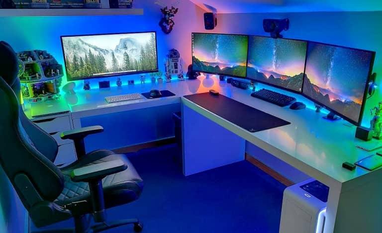 bureau gaming d'angle