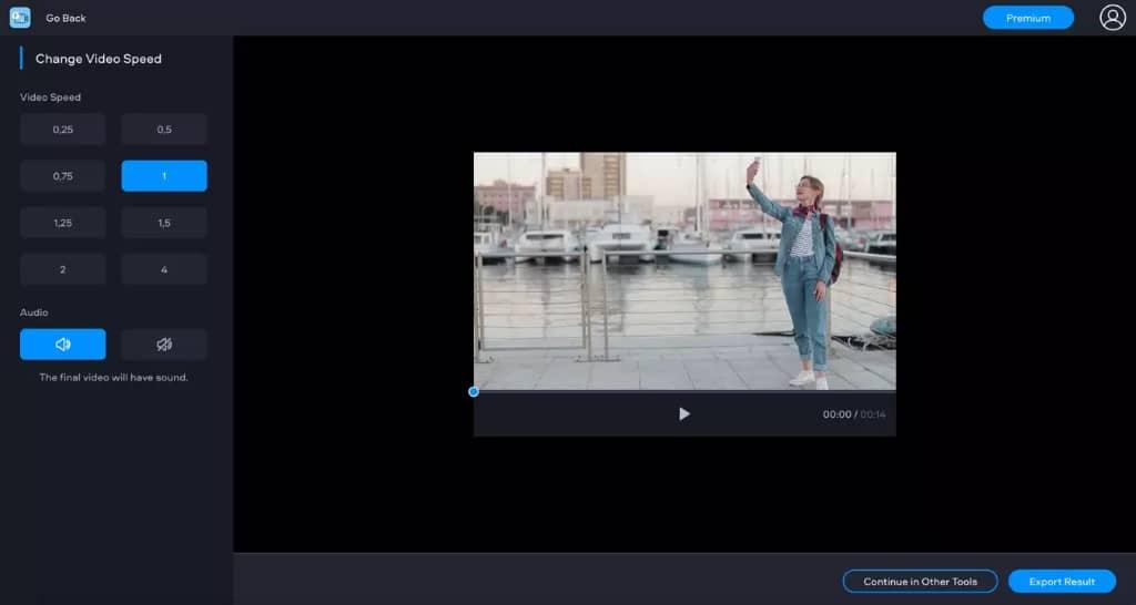 modifier la vitesse d'une vidéo avec fastreel - étape 2