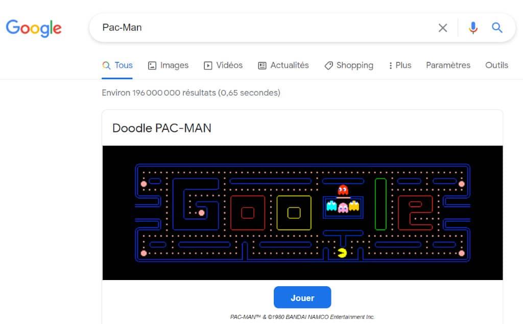 doodle pac-man google