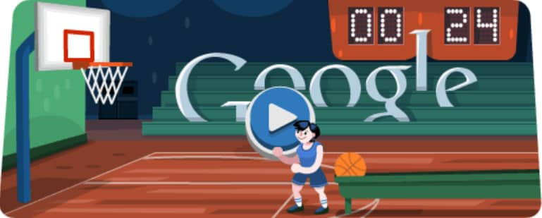 doodle google Basketball