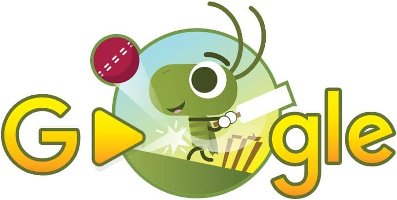 doodle google Cricket