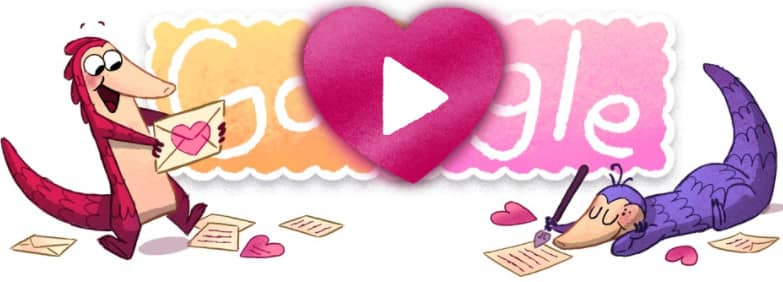 doodle google Saint Valentin