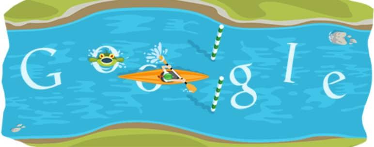 doodle google Slalom en canoë-kayak