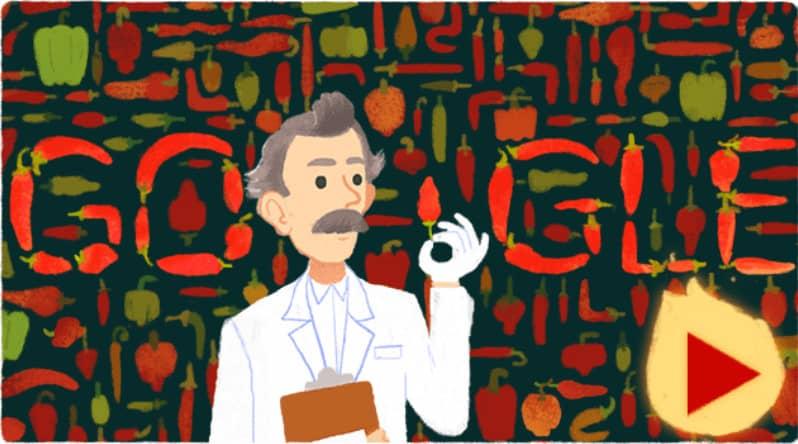 doodle google Wilbur Scoville
