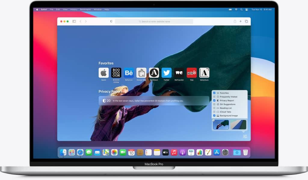 navigateur safari apple macbook